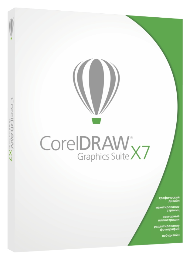 Corel graphics suite X7 left